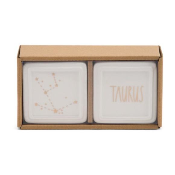 Rae Dunn Taurus ♉️ Trinket Box Set